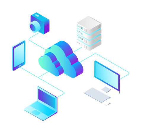 Online Storage Illustration