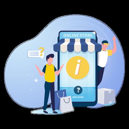 Online store information and help center Illustration