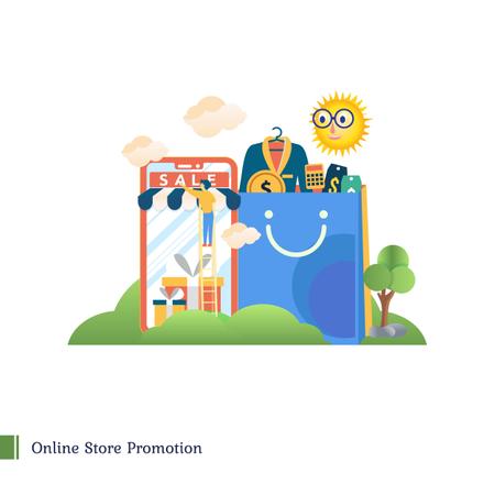 Online store promotion Illustration