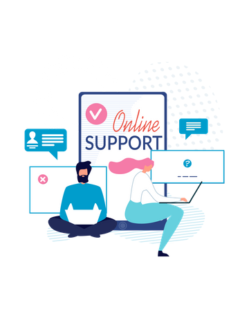 Online support Illustration