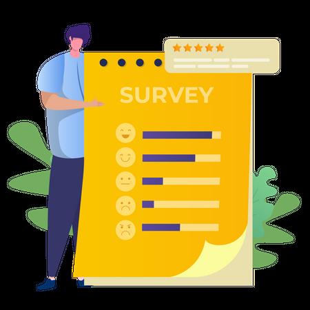 Online survey for customer feedback Illustration