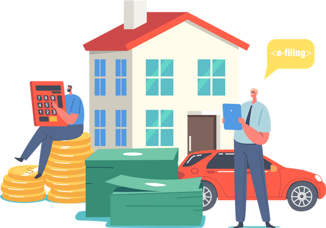Online Tax Payment Illustration
