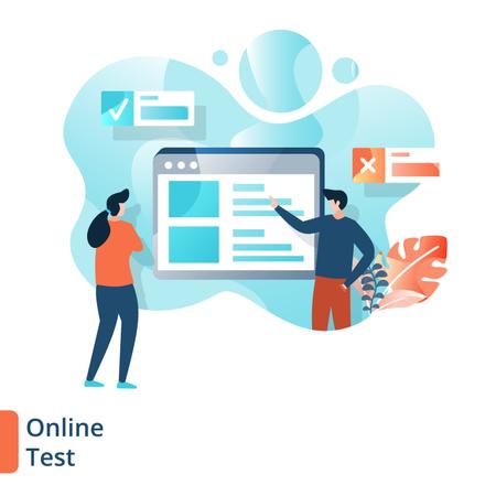 Online Test Illustration