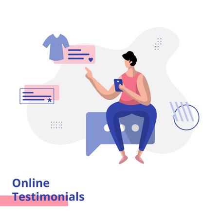 Online Testimonials Illustration