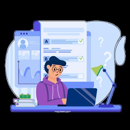 Online testing Illustration