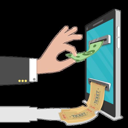 Online tickets ordering Illustration