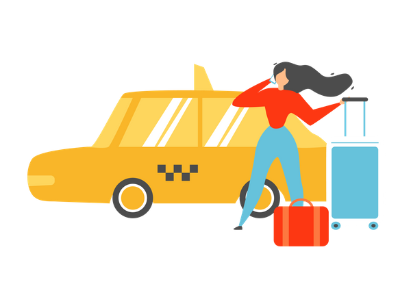 Online Tour Agency and Mobile Booking Service Illustration