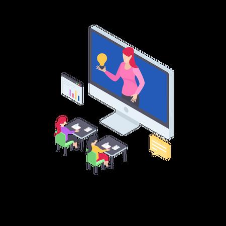 Online Training Illustration