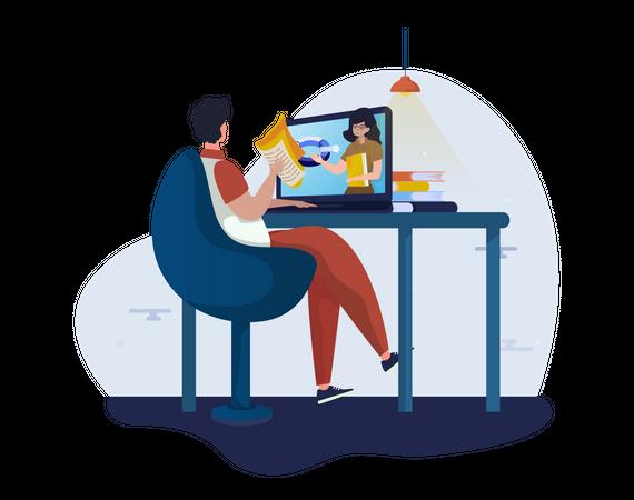 Online video Lesson Illustration