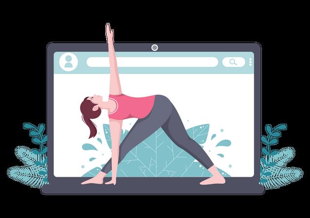 Online Yoga Classes Illustration