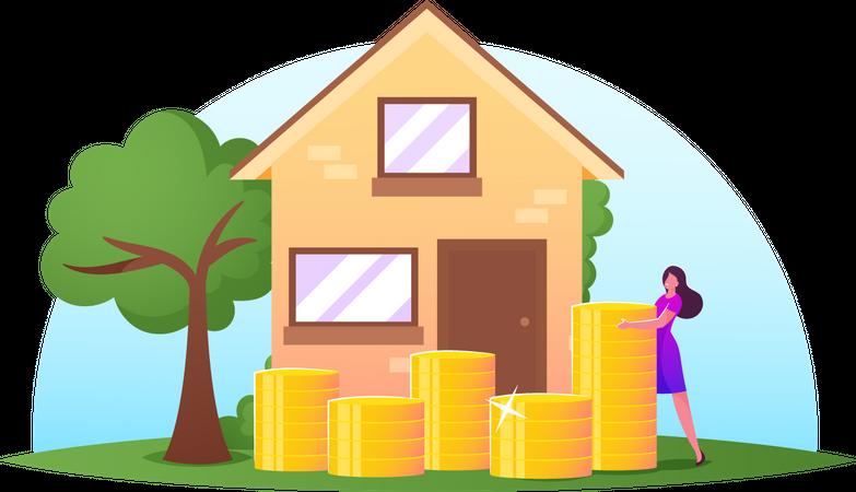 Open Deposit for Buying Real Estate Illustration