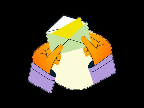 Open email Illustration