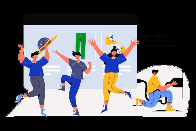 Opening Online Store Illustration