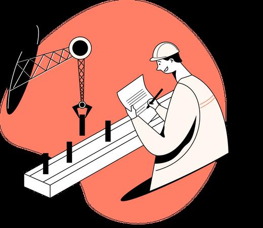 Operational engineer Illustration