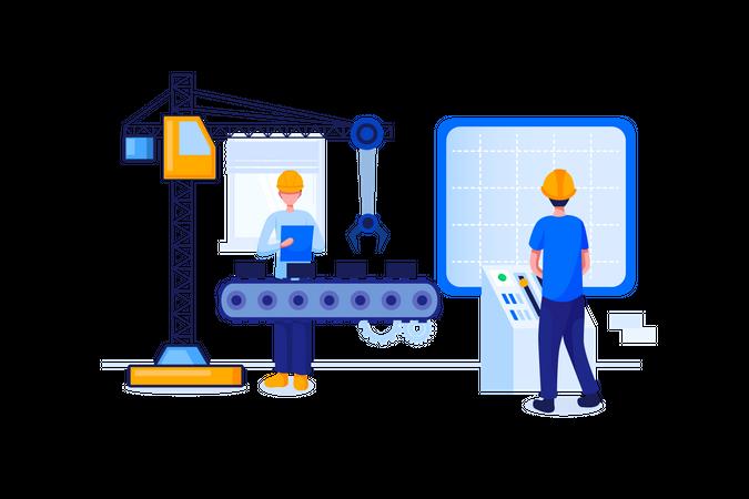 Operations engineer Illustration