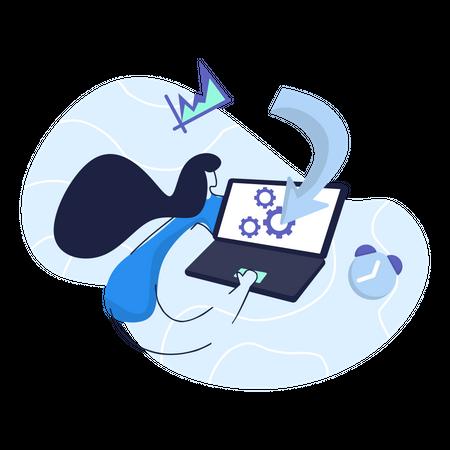 Optimization Business Illustration