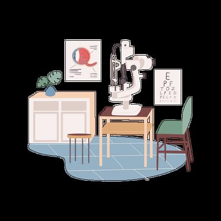 Optometrist place Illustration