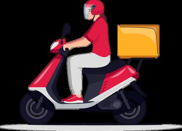 Order delivery service Illustration