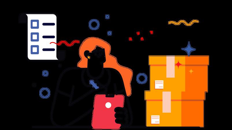 Order Monitoring Illustration