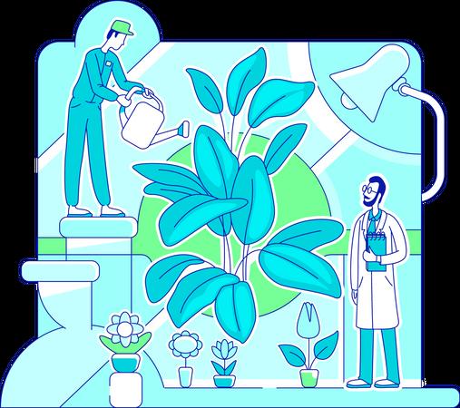 Organic fertilizer Illustration