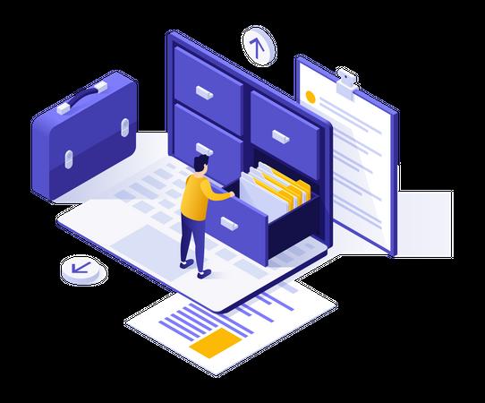 Organizing documents Illustration