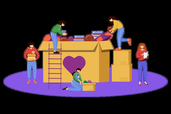 Orphanage Donation Illustration