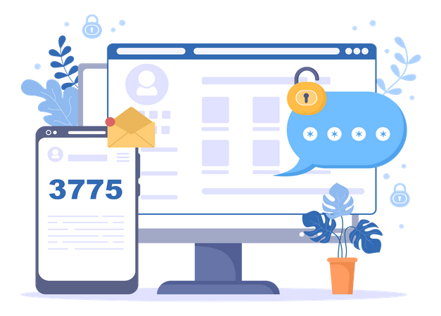 OTP Authentication Security Illustration