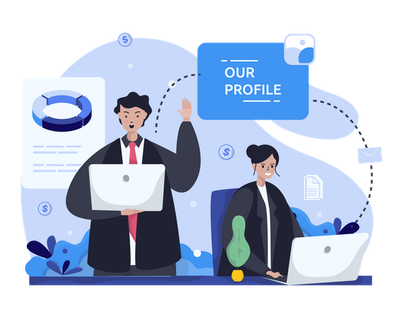 Our business profile Illustration