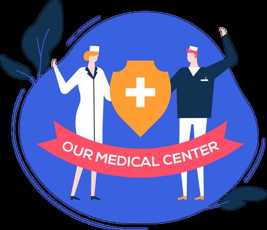 Our medical center Illustration