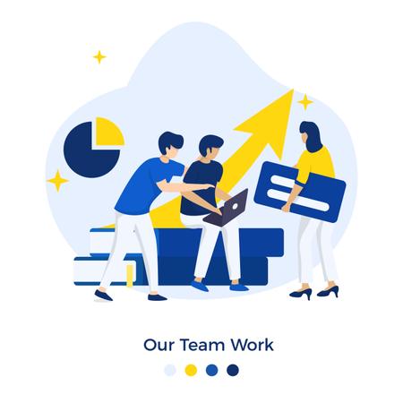 Our Team Work Illustration