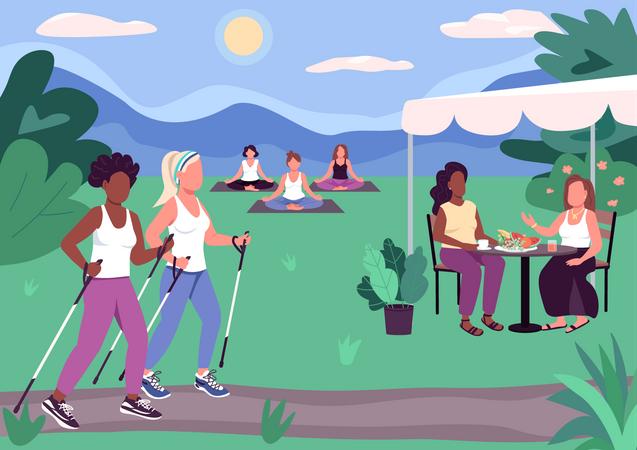 Outdoor activities Illustration