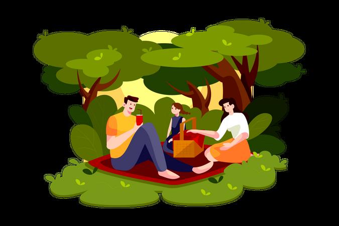 Outdoor Picnic Illustration