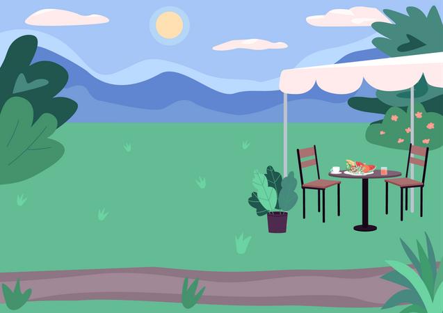 Outdoor picnic spot Illustration
