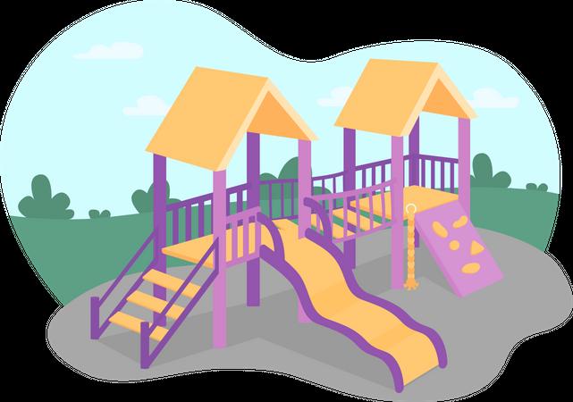 Outdoors playground Illustration