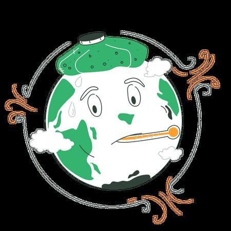 Ozone Holes Illustration