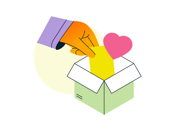 Packaging with love Illustration