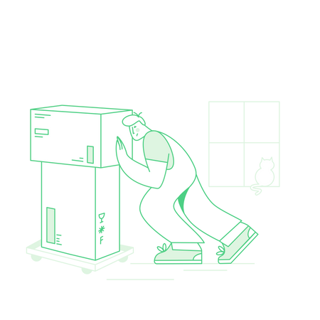 Packing and moving service Illustration
