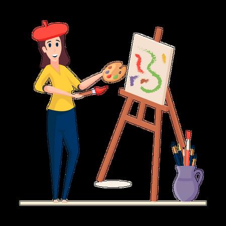 Painter Illustration