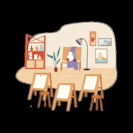 Painting class Illustration