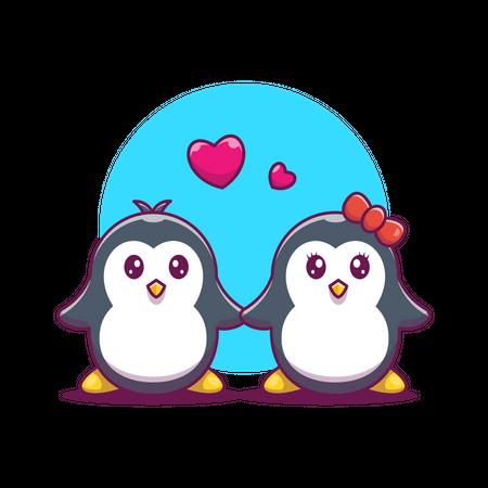 Pair of penguins Illustration