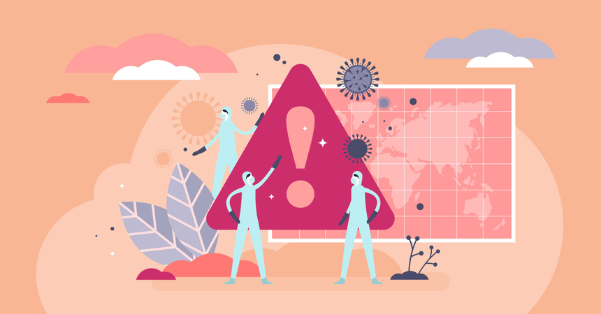 Pandemic alert concept Illustration