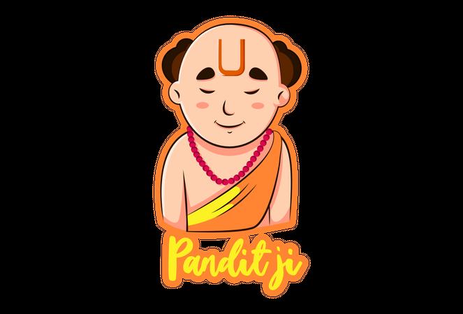 Pandit Ji Illustration