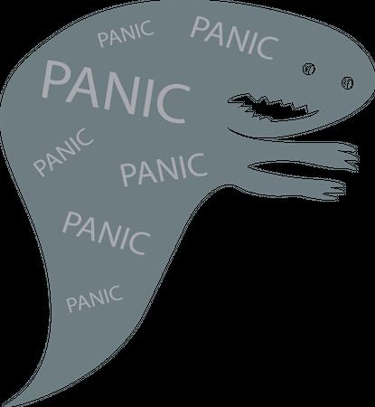 Panic monster Illustration