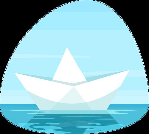Paper boat Illustration