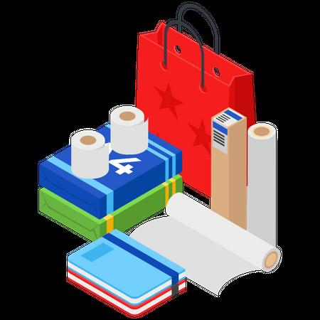 Paper Items Illustration