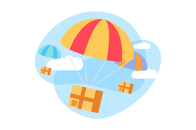 Parachute Delivery Illustration