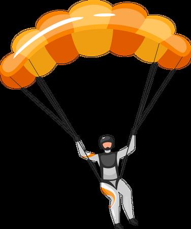 Parachuting Illustration