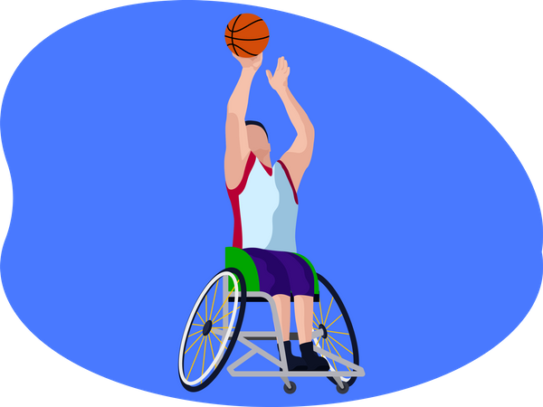 Paralympic Basketball player Illustration