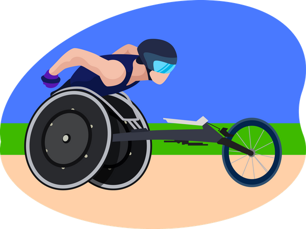 Paralympic Race Illustration