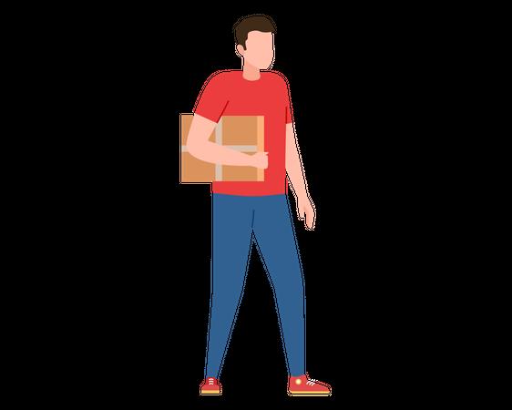 Parcel delivery Illustration